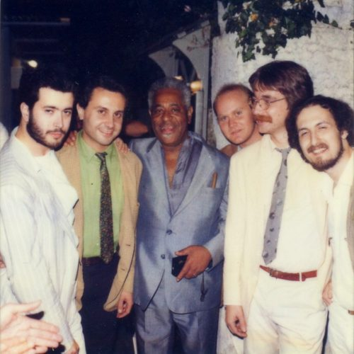 1985 - Lingomania in Verona with Dizzy Gillespie (foto T.Scott)