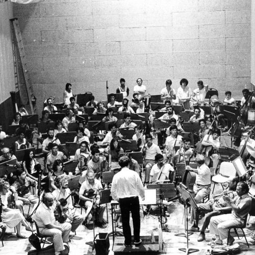 1986 - Conducting Cagliari Opera Orch. with Rava, Liebman