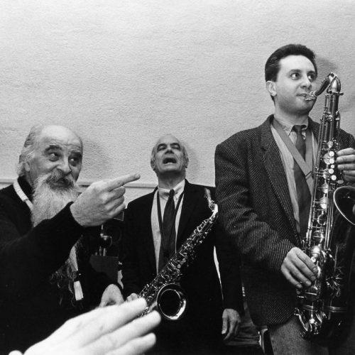 1991 - Tony Scott, Enzo Scoppa, MG al Caffè Latino (foto D.Bianca)