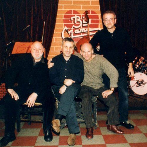 2001 - Daniel Humair, MG, Dave Liebman e Furio Di Castri at Big Mama (foto C.Palmieri)