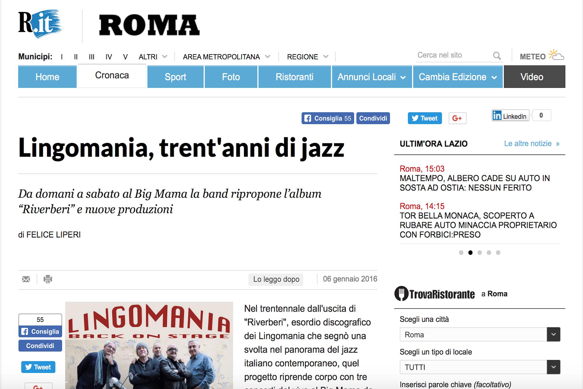 Lingomania, trent'anni di Jazz – La Repubblica